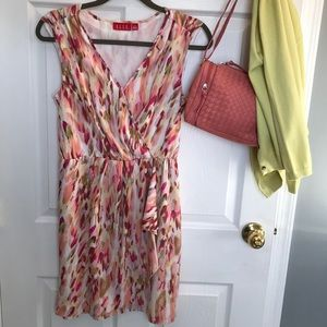 Tropical Sun dress, mini print sleeveless dress